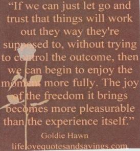 trust the outcome